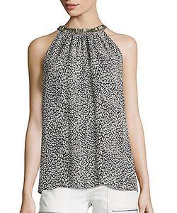 Joie | Katella Leopard Print Silk Halter