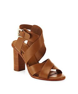 Joie | Avery Crisscross Leather Block-Heel Sandals
