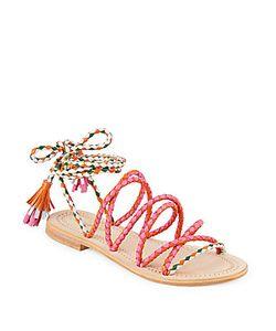 Antik Batik | Dori Braided Ankle-Strap Leather Sandals