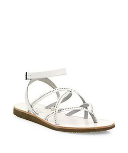 Joie | Oda Strappy Studded Leather Flat Sandals