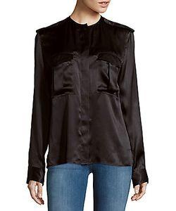 Haider Ackermann | Solid Long-Sleeve Silk Top