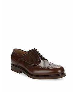 Salvatore Ferragamo | Leather Medium Wingtip Oxfords