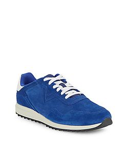 Diesel | Leather-Trim Lace-Up Sneakers
