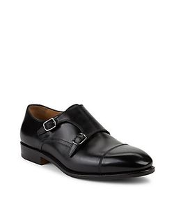 Salvatore Ferragamo | Monk Strap Leather Oxfords