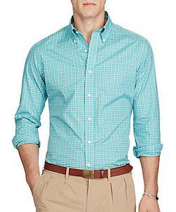 Ralph Lauren Purple Label | Plaid Poplin Shirt