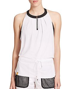Monreal London | Zip-Front Drawstring Top
