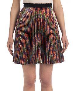 Marco de Vincenzo   Pleated Lurex Mini Skirt