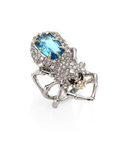 Alexis Bittar | Elements Crystal-Encrusted Spider Cocktail Ring