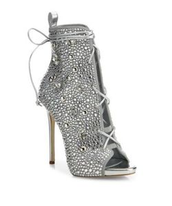 Giuseppe Zanotti | Jlo 110 Crystal-Embellished Suede Lace-Up Booties