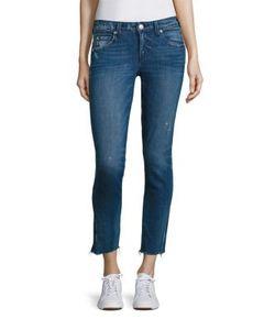 Amo | Stix Cropped Raw Hem Skinny Jeans