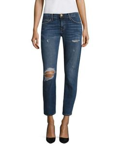 Current/Elliott | The Easy Stiletto Distressed Cropped Jeans