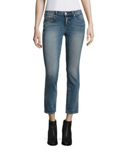 Amo | Kate Cropped Straight-Leg Jeans