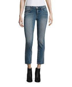 Amo | Kate Cropped Straight-Leg Jeans