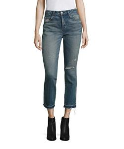 Amo | Babe Distressed Straight-Leg Jeans