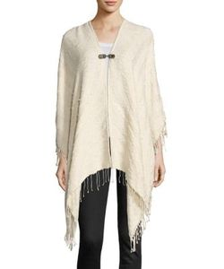 The Kooples | Solid Tassel Detailed Poncho