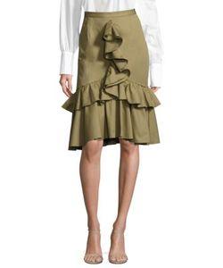 Tome | Mermaid-Front Ruffle Skirt
