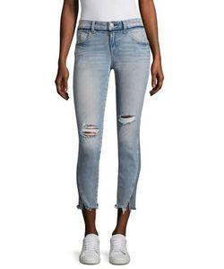 Amo | Twist Two-Tone Cropped Skinny Jeans