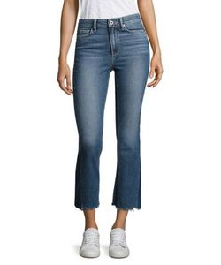 Paige | Colette Pieced Raw-Edge Cropped Flared Jeans