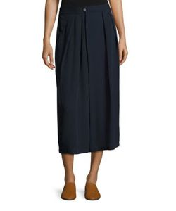 Vince | Pleated Silk Culottes