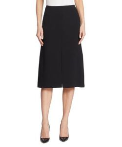Akris | Double-Face Wool A-Line Skirt