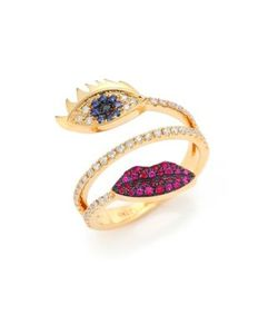 Delfina Delettrez | Marry Me Sapphire Diamond Rubies 18k Eyes