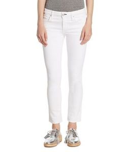 Amo | Bow Back Zip-Cuff Cropped Skinny Jeans