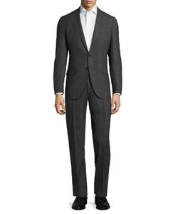 Isaia | Slim-Fit Micro Graph Check Wool Suit