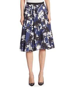 Jason Wu | Palm-Print Cotton A-Line Skirt