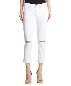 Polo Ralph Lauren | Distressed Cropped Straight-Leg Jeans