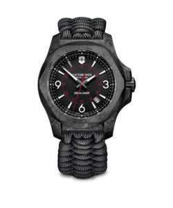 Victorinox Swiss Army   I.N.O.X. Carbon Stainless Steel Paracord Strap Watch