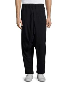 Issey Miyake | Drop-Crotch Wool Blend Pants