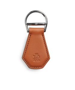 Dunhill   Stitched Leather Keyfob