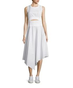 A.L.C. | Sandra Shirred Cutout Dress