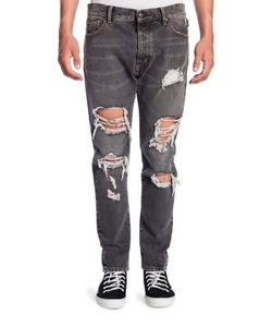 Palm Angels | Straight-Fit Ripped Jeans