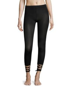 Wolford | Lace-Up Capri Leggings