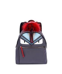 Fendi   Fur-Detail Studded Monster Backpack