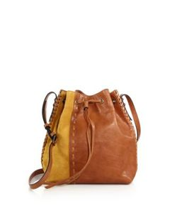 Dannijo | Thalia Leather Suede Bucket Bag