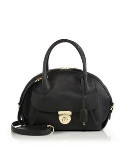 Salvatore Ferragamo | Fiamma Medium Pebbled Leather Satchel