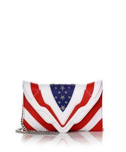 Elena Ghisellini | Selina Medium Stars Stripes Leather Shoulder Bag