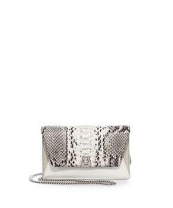 Akris | Anouk Mini Python-Embossed Leather Crossbody Bag