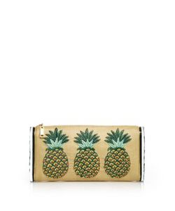 Edie Parker | Lara Jumbo Raffia Acrylic Pineapple Clutch