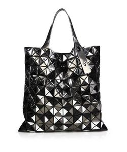 Bao Bao Issey Miyake | Platinum Mix Faux Patent Leather Tote