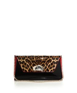 CHRISTIAN LOUBOUTIN | Vero Dodat Leopard-Print Patent Leather Clutch