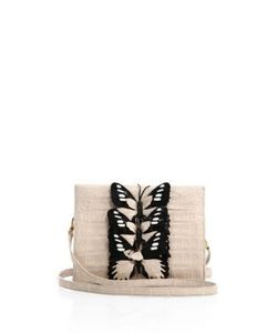 Nancy Gonzalez | Small Butterfly-Detail Crocodile Clutch