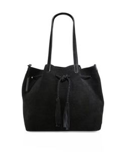 Loeffler Randall | Double Handle Drawstring Suede Tote