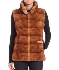 Michael Kors Collection | Horizontal Mink Fur Vest