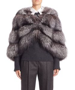 Michael Kors Collection | Horizontal Fox Fur Cape