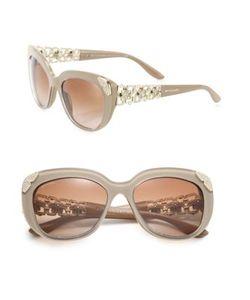 BVLGARI | 55mm Crystal-Embellished Acetate Metal Cats-Eye Sunglasses