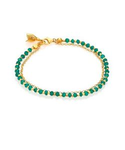 Astley Clarke | Biography Green Agate Beaded Flower Charm Friendship Bracelet