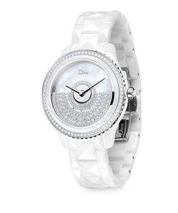 Dior | Viii Grand Bal Diamond Mother-Of-Pearl Ceramic Bracelet Watch